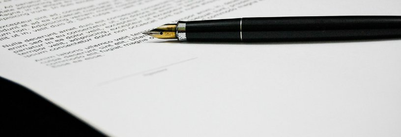 Agreement or disclosure with fountain pen