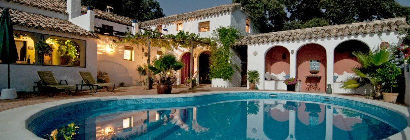 Spanish style home with inground pool