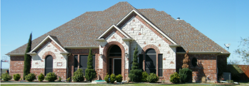 Front of large home
