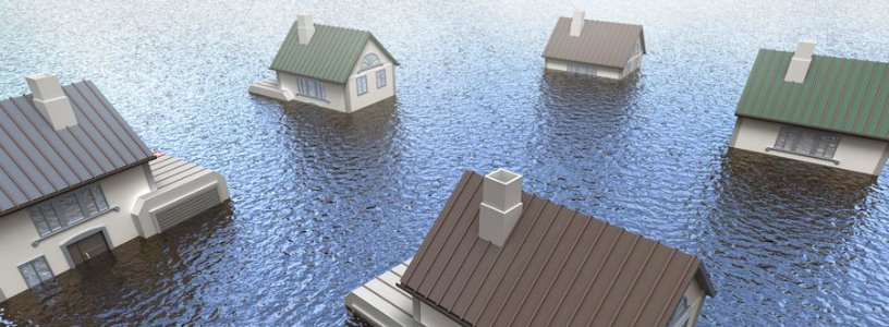 Houses under water
