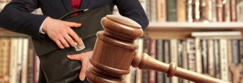 real estate agent in court