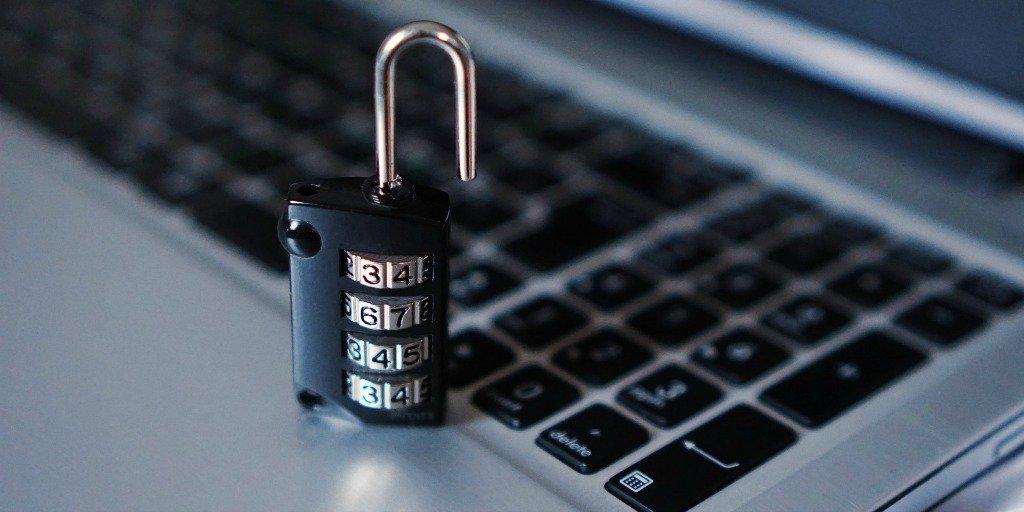 lock sitting on a keyboard