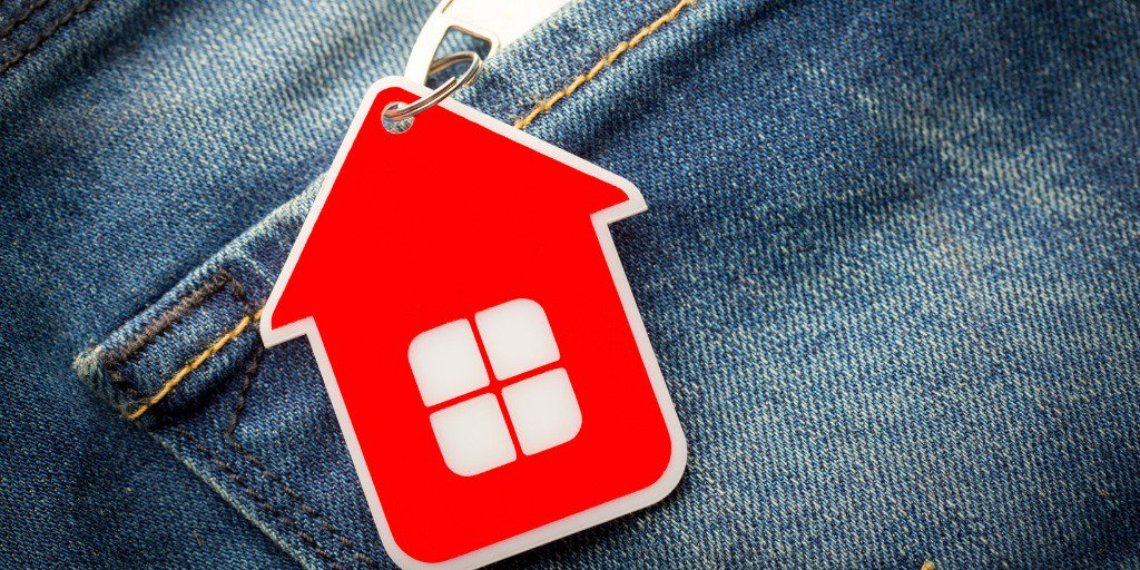 house keychain in pocket