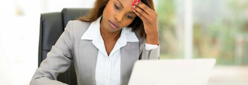 woman stressed about real estate lawsuit
