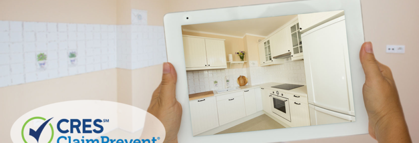 kitchen with virtual furniture on ipad
