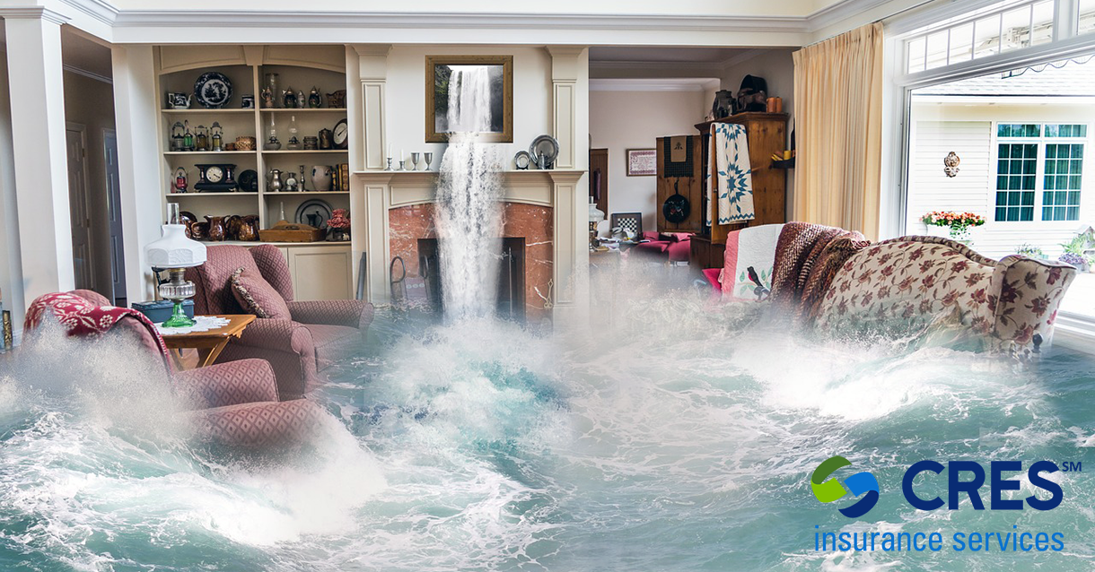 Flooding House representing California special flood zone notification