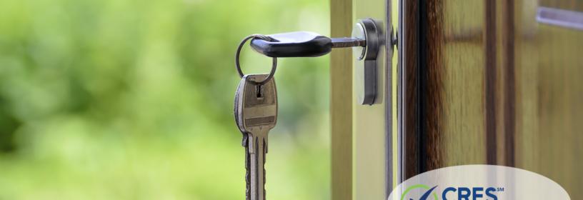 keys in door of house